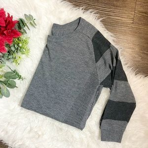 POOF! GREY KNIT SWEATER
